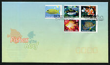 2010 Fishes of the Reef FDC First Day Cover Stamps Australia