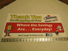 Hostess Bakery Outlet Plastic Sticker Display Sign