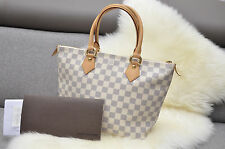Louis Vuitton Azur Damier Saleya PM Tote Purse Handbag