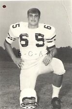 Vintage Real Photo- Sports- Football Player- Helmet at Knee- Number 65- 60s-70s