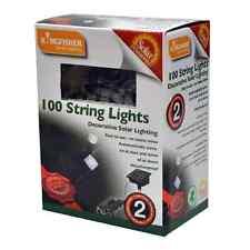 100 LED STRING SOLAR POWERED WHITE OUTSIDE GARDEN DISPLAY FAIRY LIGHTS SLSL3