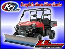 "KFI UTV 72"" Snow Plow Kit Combo Polaris Ranger Full Size 500 XP 700 800 2009-14"