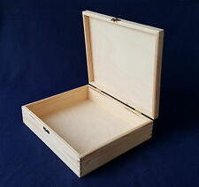 Plain Wood Box Wooden Boxes Chest Storage Jewellery Decoupage Craft Large