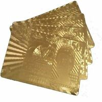 NEW £50 Edition 24K Gold Plated Playing Cards Poker Deck 99.9%Pure Plastic Card