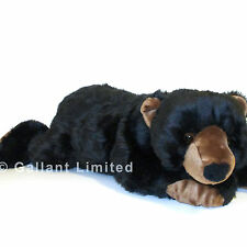 LARGE 71CM HANDMADE GIANT BLACK GRIZZLY TEDDY BEAR HUGE STUFFED & BIG SOFT CLAWS