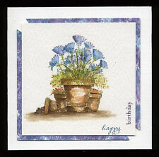 Carnations  RETIRED U get photo #2 L@@K@examples Art Impressions Rubber Stamps