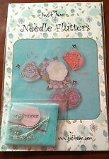 JUST NAN NEEDLE FLUTTERS CROSS STITCH CHART & EMBELLISHMENTS OOP, NLA