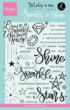 Marianne Design A5 Clear Stamps - Sparkle & Shine - Set of 58 - Stars - Diamonds