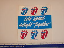 ORIGINAL 1983 ROLLING STONES, LET'S SPEND THE NIGHT TOGETHER DECAL/ STICKER