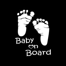 Indiashopers Footprint Baby On Board Safety Warning Car Window Decal