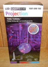 Gemmy LED Halloween Light Show Time Tunnel Red/Purple/Blue Swirling Projection
