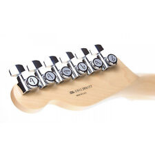 Genuine NEW Fender Strat Tele Guitar Locking Tuners Set Machine Heads Chrome