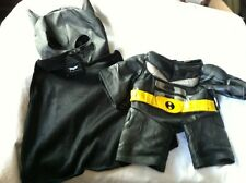Build a Bear Black/Sliver/Yellow Belt Batman Suit/Mask/Gloves 'The Dark Knight'