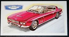 JENSEN INTERCEPTOR    FF VARIANT    Vintage Illustrated Card   # VGC
