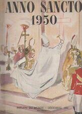 Anno Sancto 1950 - Revue Trimensuelle VATICAN - ROME - PAPE PIE XII - PELERINS