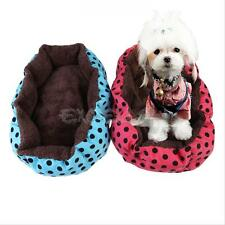 Pet Small Dog Nest Puppy Cozy Cat Soft Bed Fleece Kennel Plush Mat Warm House