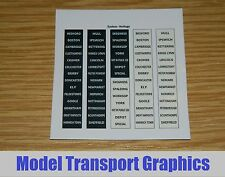 N Gauge Eastern Heritage DMU Destination Blind Decals for Class 101-126 Units
