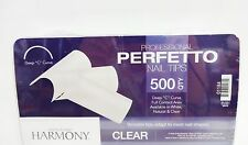 Harmony Hand & Nail Perfectto Nail Tips CLEAR  500ct/box