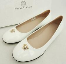 Young Versace Medusa Flats Shoes UK1 EU33 RRP269GBP