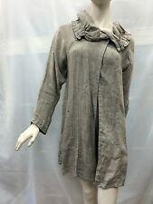 Beige Fits 12 14 Long sleeve Linen (?) Long Jacket Coat