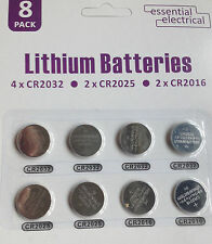 4X CR2032 2X CR2025 2X CR2016 LITHIUM BUTTON CELL BATTERY BATTERIES 3V UK