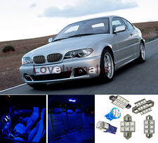 7X Blue Interior Light Lamp Package for BMW E46 Sedan Wagon Coupe Convertible