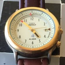 Timex Indigle Alarm Analog. Brown D8 Date Men's Watch Parts