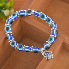 1X Charm Evil Eye Bead Protection Good Luck Bracelet Jewelry Hamsa Hand Bracelet