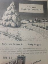 Ephemera 1949 Advert Smiths Bluecol Anti Freeze Cricklewood Works