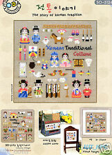 """""""The Story of Korean Traditional Culture"""" Cross stitch chart. SODA SO-3124"""