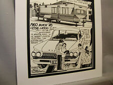 1960 Buick Nashua Motorhome  Auto Pen Ink Hand Drawn  Poster Automotive Museum