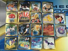 POKEMON SERIES 1 Complete Set of Rare Artbox 1999 Gold Stickers G01-G18