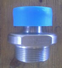 """Advance T316L SS A1121H 36932 Sanitary Pipe Fitting Adapter 1-1/2"""" MNPT x 1"""""""