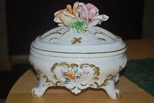 Antique Continental Italien Bassano Porcelain Bowl Pot.