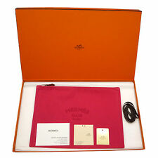 Authentic HERMES Trousse Flat Yachting GM Clutch Bag Hibiscus Canvas #k160032