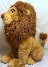 "Vintage Disney Store 28"" Jumbo Simba Plush Lion King Mufasa Walt Animation Music"