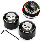 Skull Front Axle Nut Cover Cap for Harley Softail Dyna V-Rod Sportster 883 1200