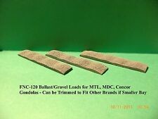 N Scale: (3) BALLAST/GRAVEL LOADS FOR MTL, MDC, or CONCOR GONDOLAS - FNC-120