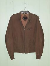 80' Members Only Cafe Racer Corduroy Jacket Brown Men's 40 Mod Rockabilly M-13