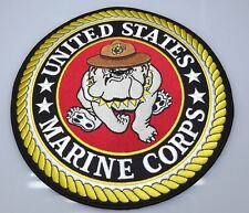MARINE CORPS USMC PATCH LARGE LOGO BULL DOG XLG NEW IRON-ON