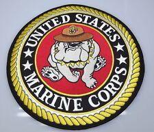 MARINE CORPS USMC PATCH LARGE LOGO BULL DOG XLG NEW IRON-ON