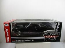 1/18 AUTO WORLD AMERICAN MUSCLE BLACK 1970 OLDSMOBILE CUTLASS SX