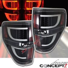 LED Tail lights for 2009-2014 F150 Pickup Truck Clear Lens Black style Pair