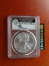 2017 SILVER EAGLE PCGS MS70 MERCANTI STRUCK AT WEST POINT FIRST DAY ISSUE FDOI
