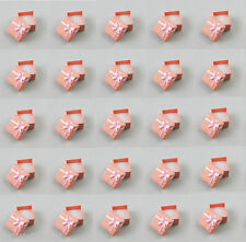 wholesale 24 pcs pink color jewelry gift box new ring earring Gift Box