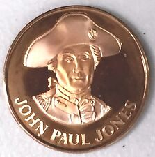C2204    DANBURY  MINT  BRONZE  MEDAL,  U.S. PATRIOTS,  JOHN  PAUL  JONES