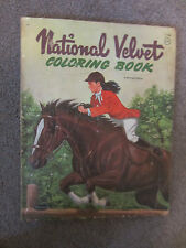 1961 Whitman National Velvet movie tie in television show coloring book used