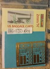 N Scale Shire Scenes Etched US Baggage Carts  Ss601