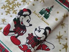 Lot of 2 Disney Mickey & Minnie Mouse Seasonal Greeting Hand Towels
