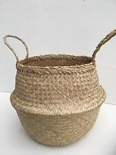 Handwoven Seagrass Belly Basket - Natural